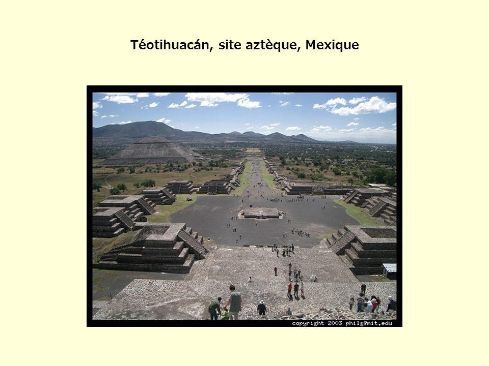 Téotihuacán, site aztèque, Mexique
