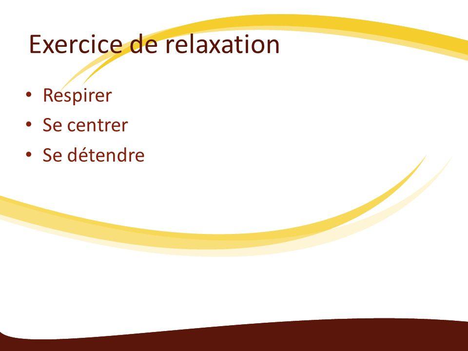 Exercice de relaxation Respirer Se centrer Se détendre