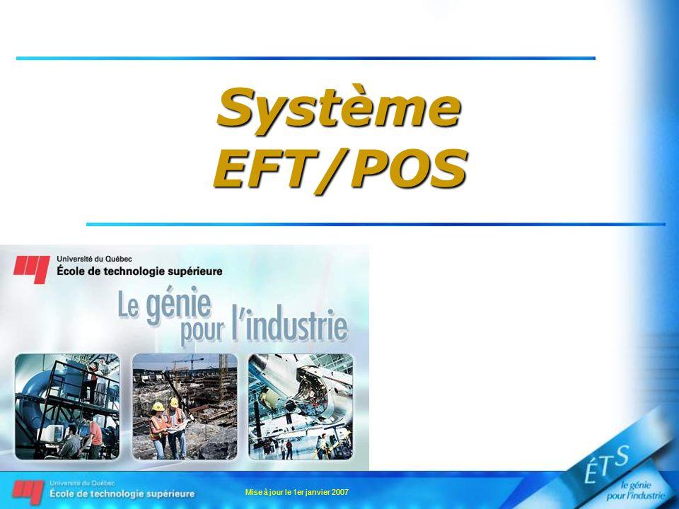 Mise à jour le 1er janvier 2007 SystèmeEFT/POS