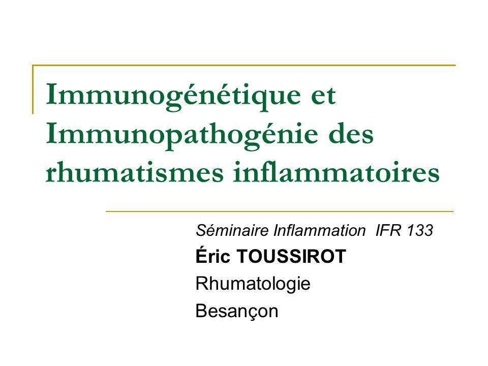 Réponse anti-TNF Polymorphisme promoteur TNF 308 A/G Association génotype 308 G/G et bonne réponse TNF Autres pathologies: SpA .