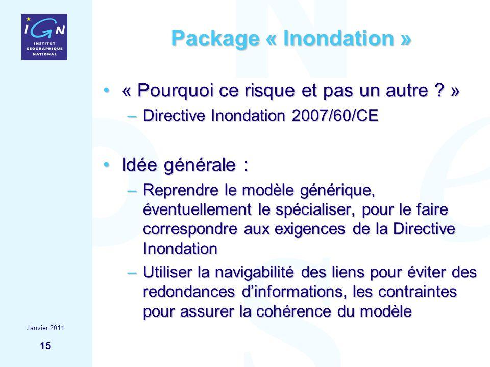 15 Package « Inondation » « Pourquoi ce risque et pas un autre ? »« Pourquoi ce risque et pas un autre ? » –Directive Inondation 2007/60/CE Idée génér