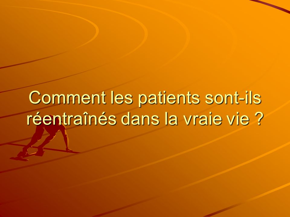 Enquête Septembre 2005 80 centres 40 réponses Portant sur les modalités dentraînement de : –Post pontages –Idm post angioplastie –Post chirurgie valvulaire –Insuffisants cardiaques