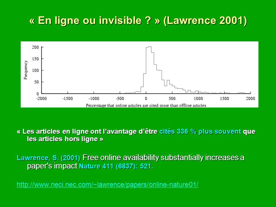 « En ligne ou invisible .