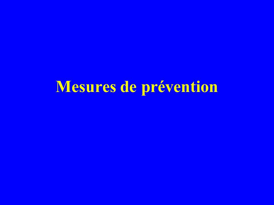 Mesures de prévention