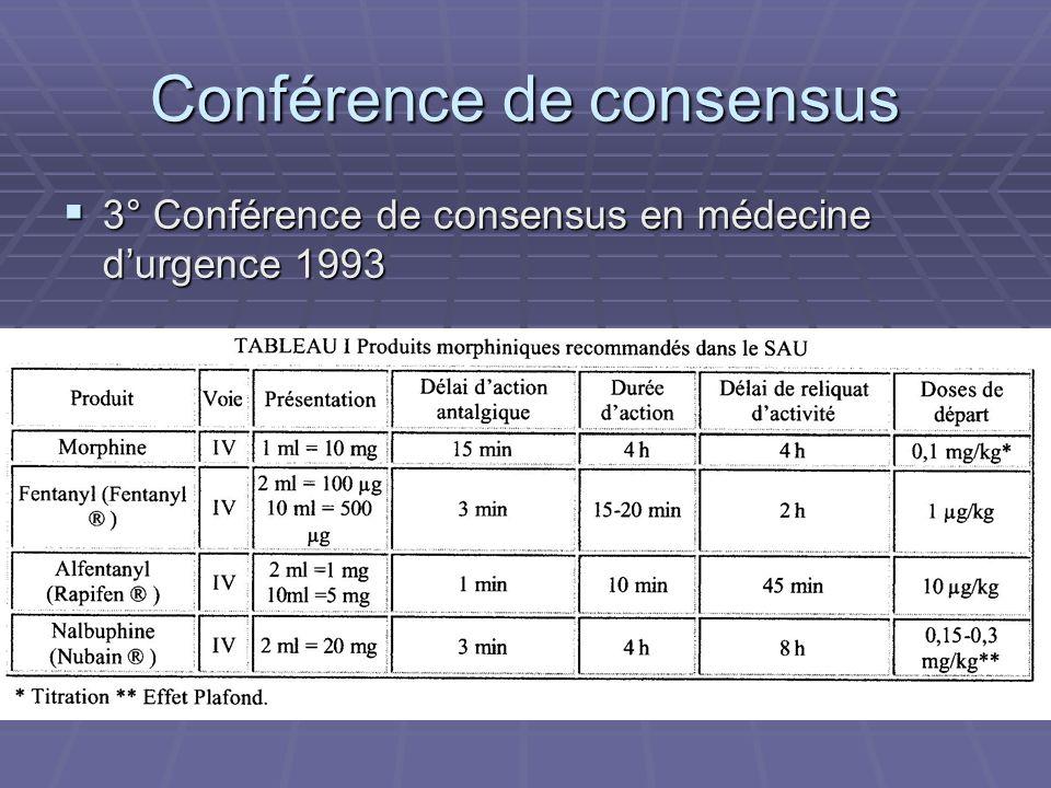 Conférence de consensus 3° Conférence de consensus en médecine durgence 1993 3° Conférence de consensus en médecine durgence 1993