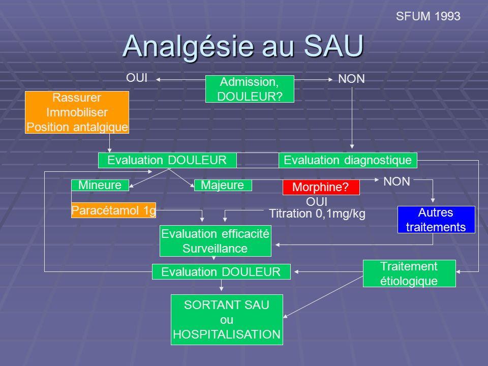 Analgésie au SAU SFUM 1993 Admission, DOULEUR.