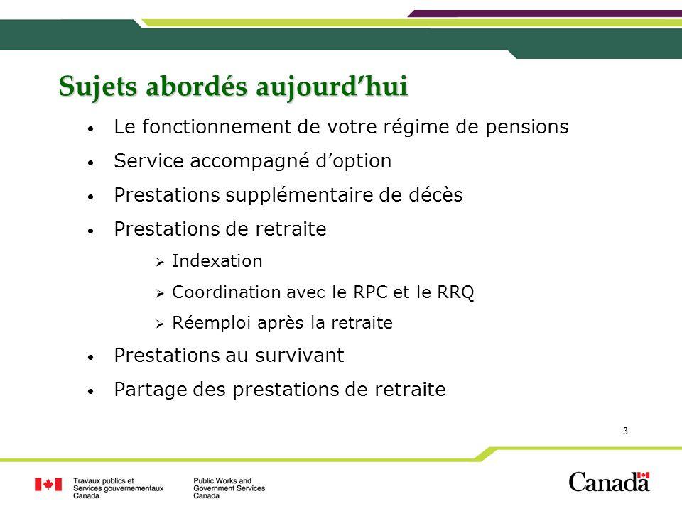 44 Coordination avec le Régime de Pensions du Canada et le Régime de rentes du Québec Quelle incidence a la coordination avec le RPC/RRQ sur mes prestations de retraite?