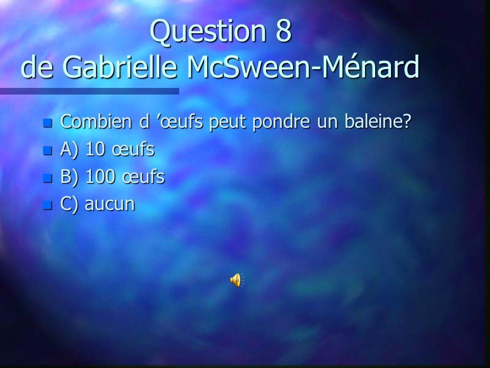 Question 18 de Gabriel Taillefer n Pourquoi les icebergs flottent-ils sur l`eau?