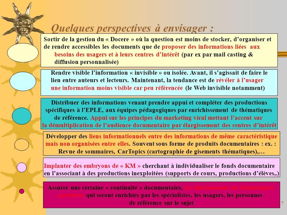 Fadben Créteil-Mai 200426 Le documentaliste doit faire face à un ensemble de contradictions ou difficultés : La documentation est axée sur des besoins dinformation qui peuvent être comblés par des démarches autonomes via les TIC notamment.