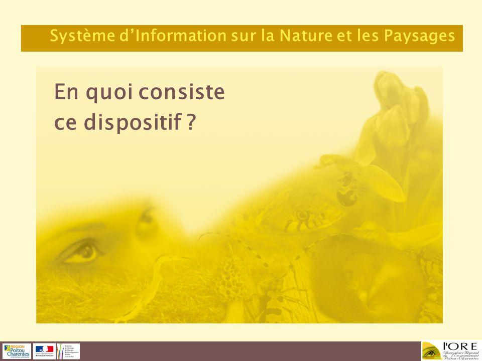 En quoi consiste ce dispositif ? Système dInformation sur la Nature et les Paysages