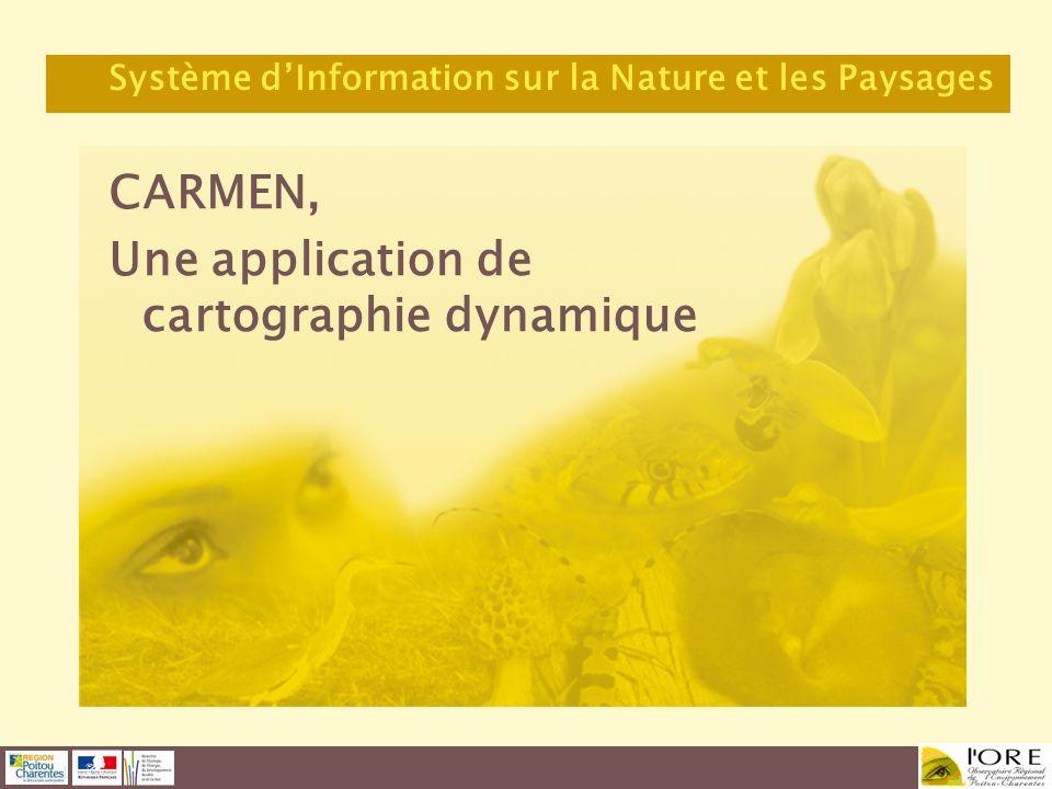 CARMEN, Une application de cartographie dynamique Système dInformation sur la Nature et les Paysages