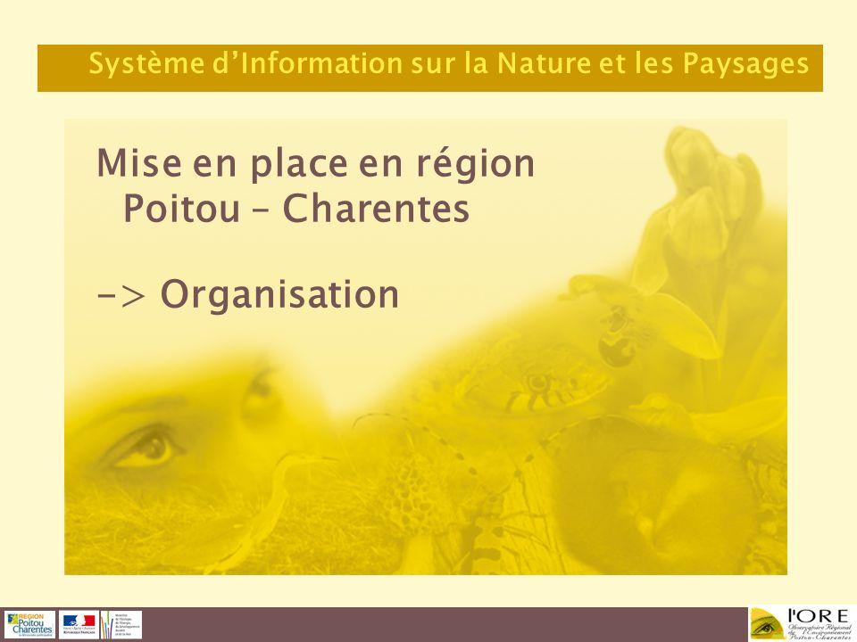 Mise en place en région Poitou – Charentes -> Organisation Système dInformation sur la Nature et les Paysages