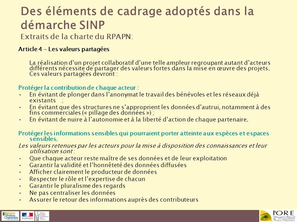 Article 4 – Les valeurs partagées La réalisation dun projet collaboratif dune telle ampleur regroupant autant dacteurs différents nécessite de partage