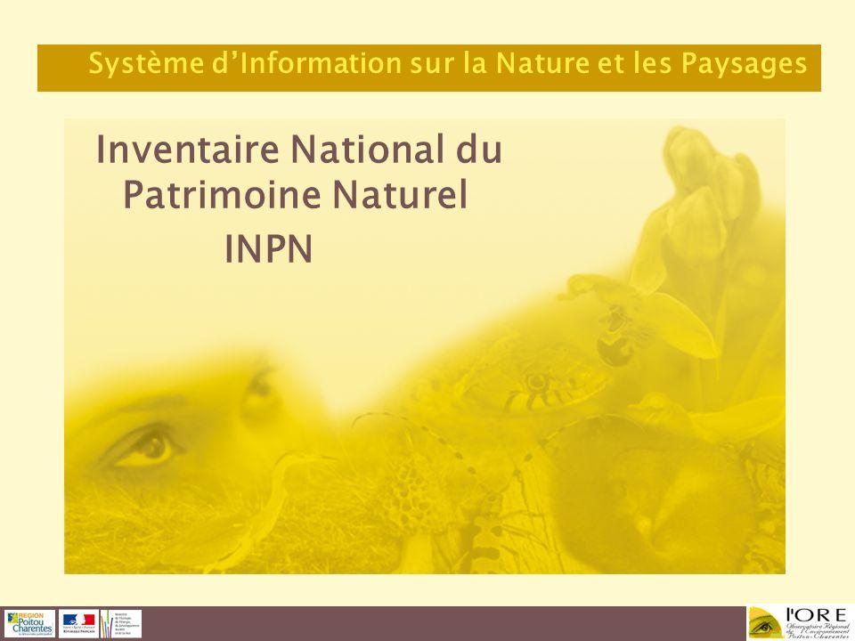 Inventaire National du Patrimoine Naturel INPN Système dInformation sur la Nature et les Paysages
