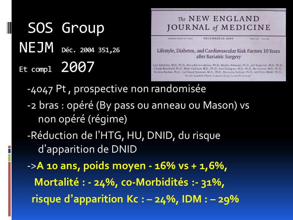 SOS Group NEJM Déc.