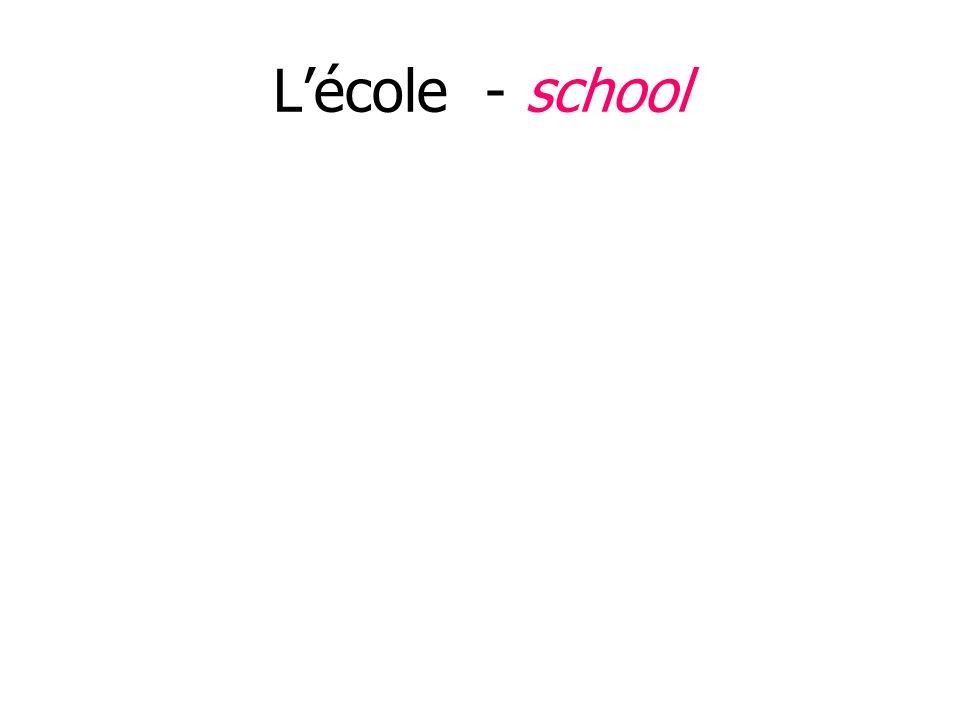 Lécole - school