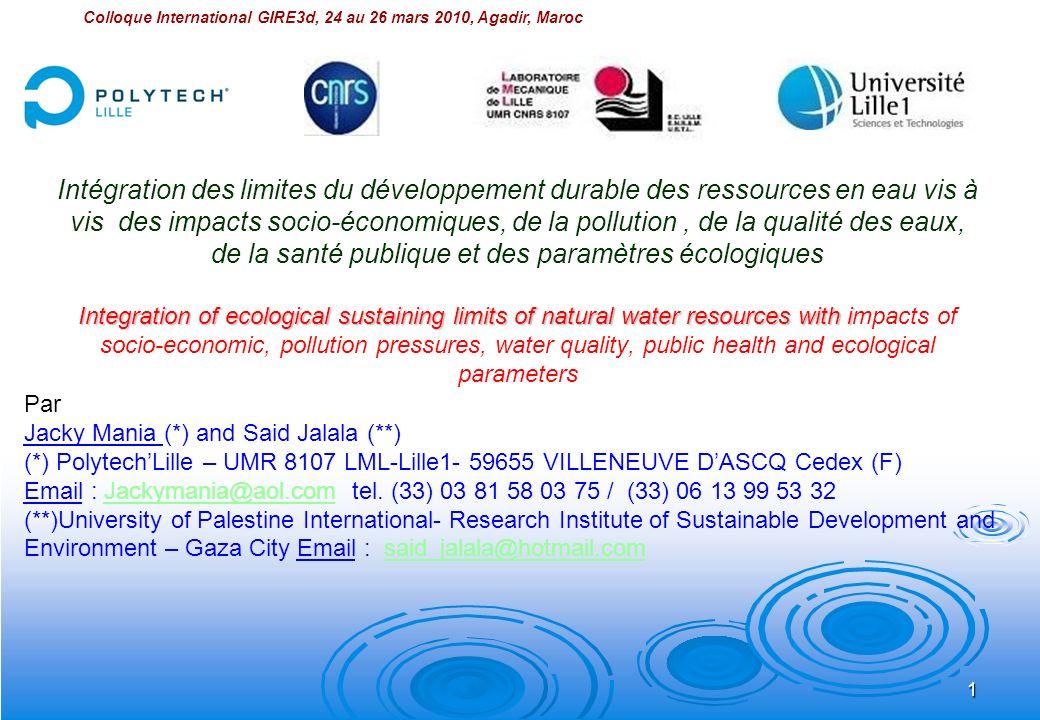 42 Analyse des risques sur la santé des zones de rejet des eaux usées