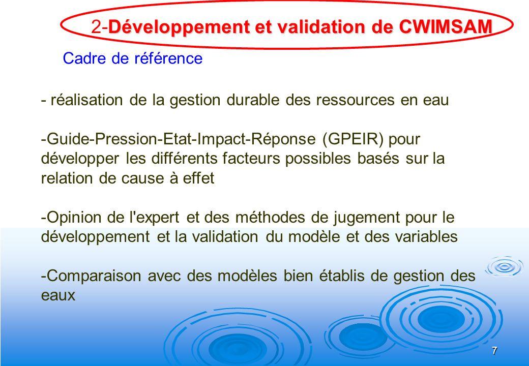 7 - réalisation de la gestion durable des ressources en eau -Guide-Pression-Etat-Impact-Réponse (GPEIR) pour développer les différents facteurs possib