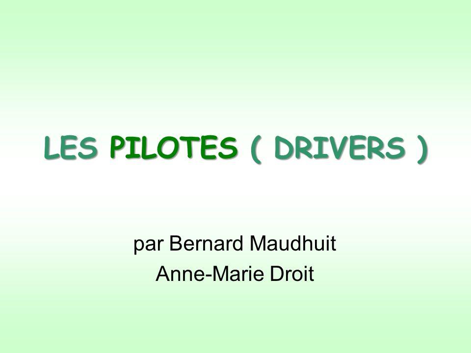 Drivers = Pilotes Les « drivers » aussi appelés pilotes sont des petits logiciels qui servent en quelque sorte dintermédiaires entre le système dexploitation ( Windows, Linux et autres) et les cartes dextension et matériels périphériques connectés au PC.