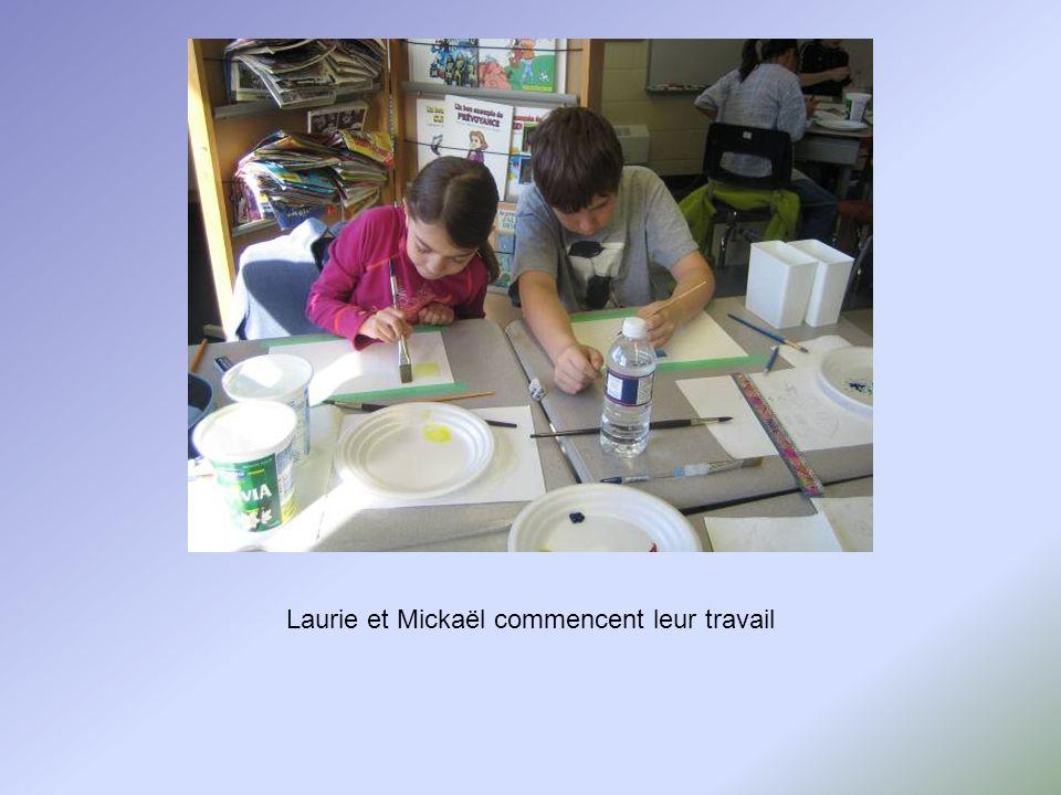 Patrycja et Samuel débutent leurs peintures