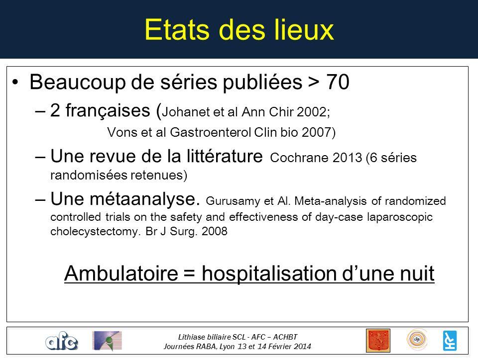 Lithiase biliaire SCL - AFC – ACHBT Journées RABA, Lyon 13 et 14 Février 2014 Pourquoi un tel retard .