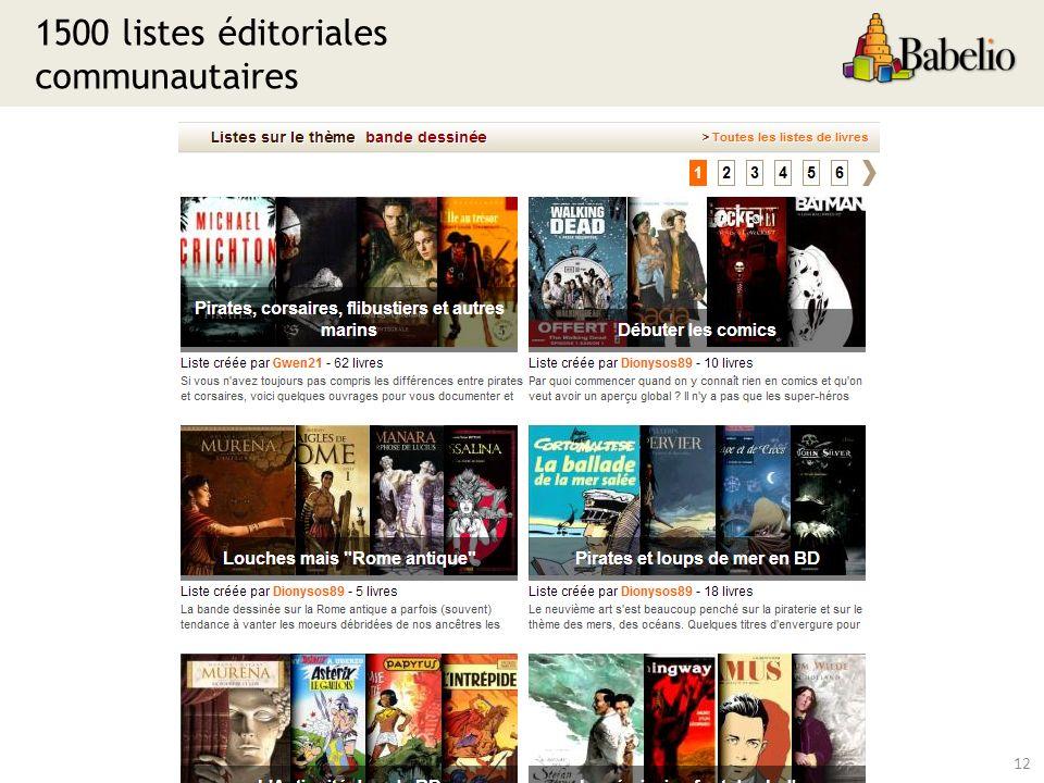 1500 listes éditoriales communautaires 12