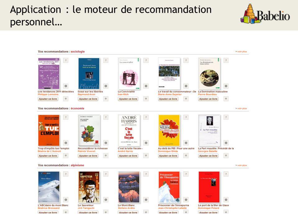 Application : le moteur de recommandation personnel…