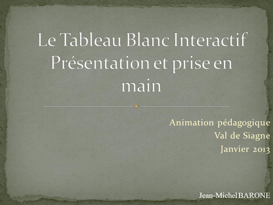 Animation pédagogique Val de Siagne Janvier 2013 Jean-Michel BARONE