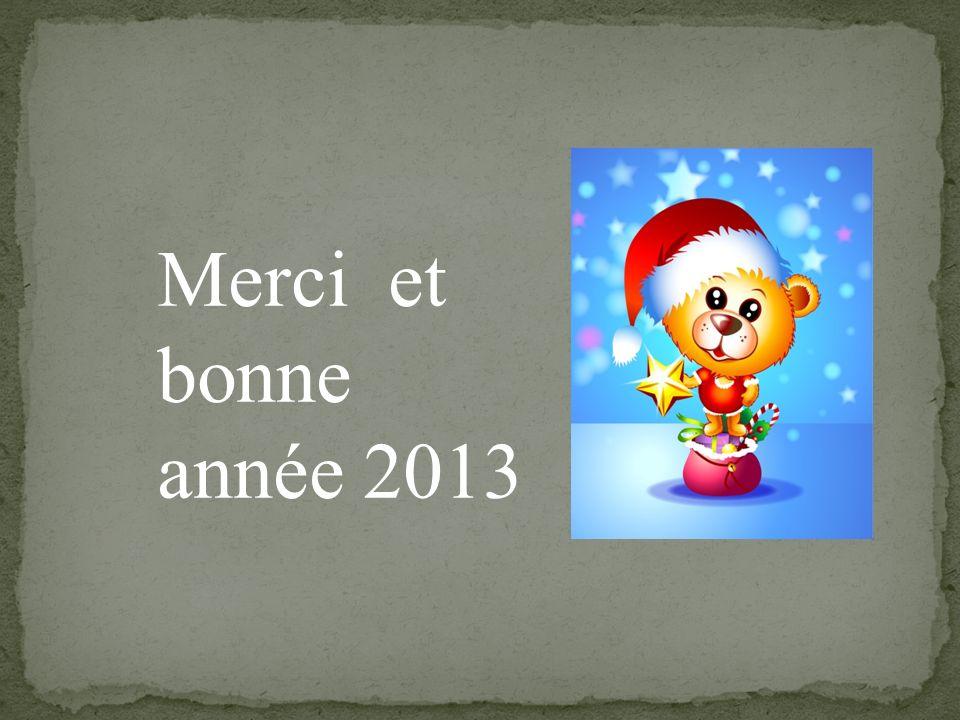 Merci et bonne année 2013