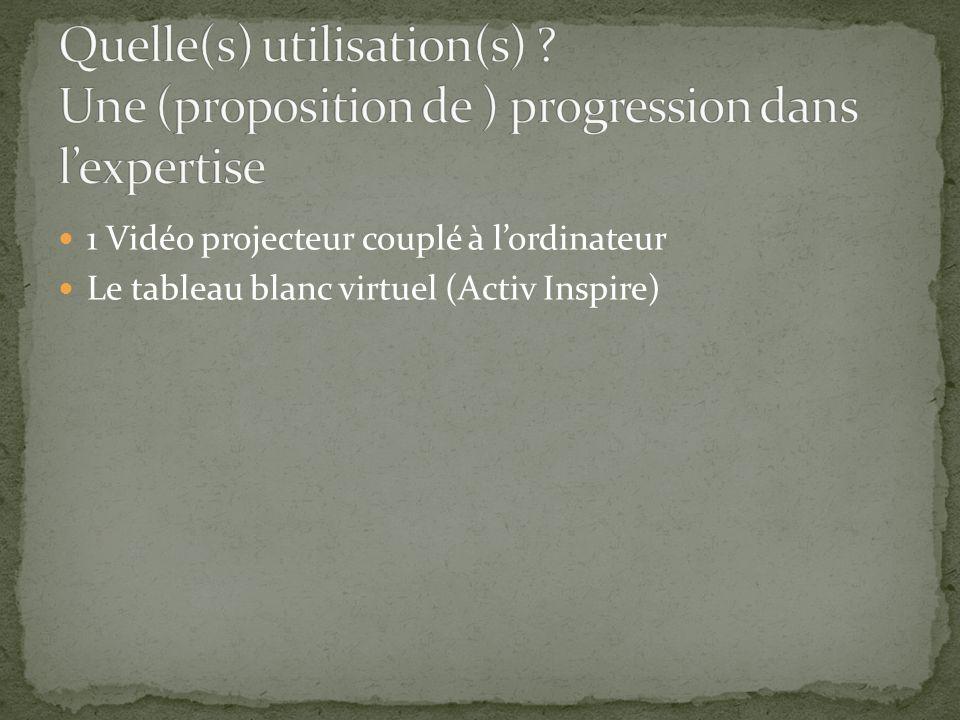 1 Vidéo projecteur couplé à lordinateur Le tableau blanc virtuel (Activ Inspire)