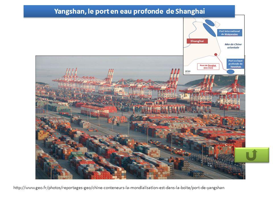 Yangshan, le port en eau profonde de Shanghai http://www.geo.fr/photos/reportages-geo/chine-conteneurs-la-mondialisation-est-dans-la-boite/port-de-yangshan