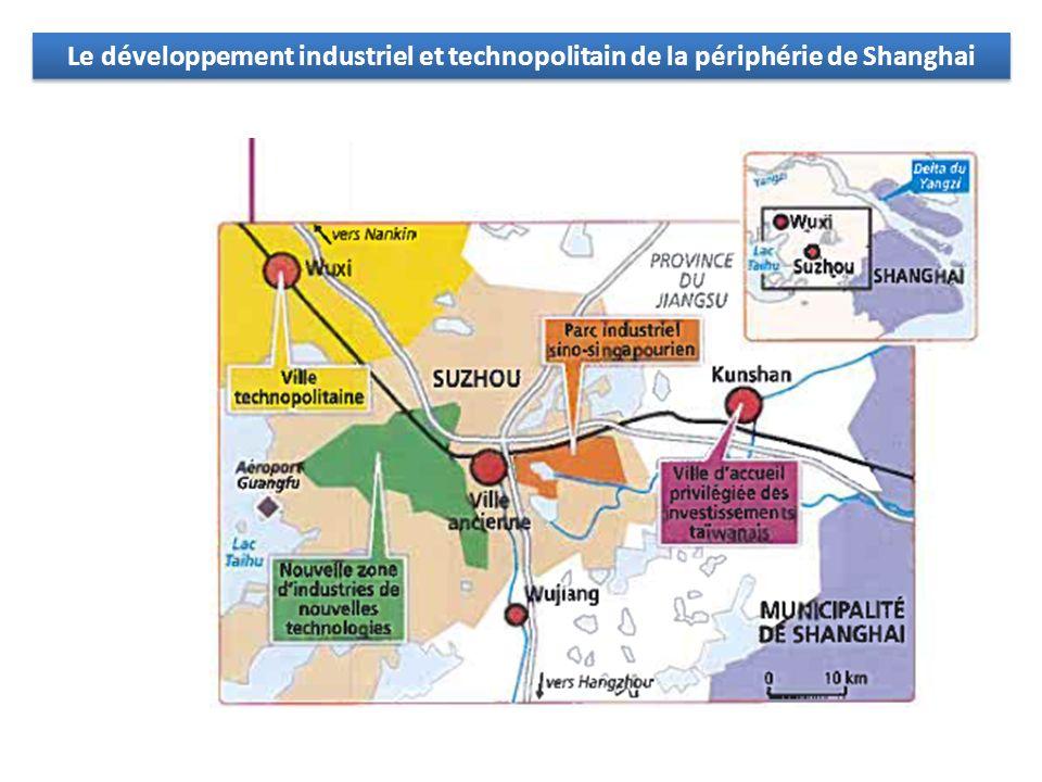 Le développement industriel et technopolitain de la périphérie de Shanghai