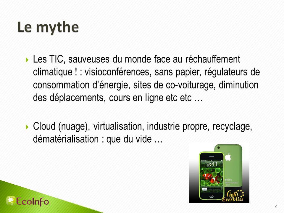 2 Les TIC, sauveuses du monde face au réchauffement climatique ! : visioconférences, sans papier, régulateurs de consommation dénergie, sites de co-vo