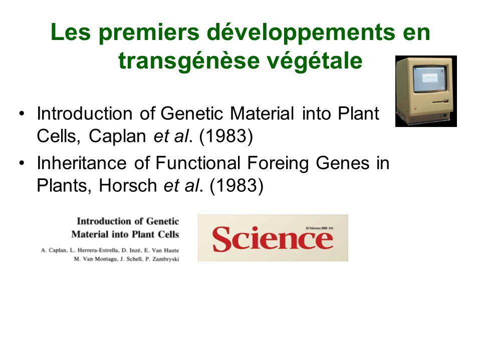 Des OGM dans nos assiettes Canola Maïs Soya Pomme de terre …et des arbres transgéniques Peuplier avec résistance au glyphosate (Fillatti et al 1987) Épinette blanche avec gène marqueur (Ellis et al.