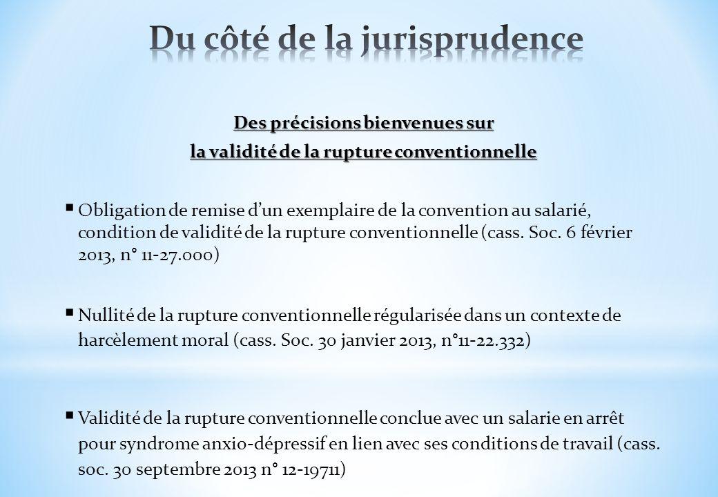 Des précisions bienvenues sur la validité de la rupture conventionnelle Obligation de remise dun exemplaire de la convention au salarié, condition de