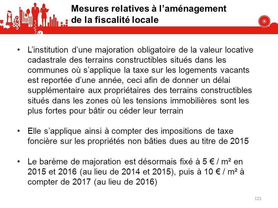 Linstitution dune majoration obligatoire de la valeur locative cadastrale des terrains constructibles situés dans les communes où sapplique la taxe su
