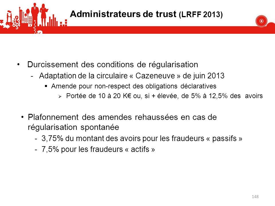 Durcissement des conditions de régularisation -Adaptation de la circulaire « Cazeneuve » de juin 2013 Amende pour non-respect des obligations déclarat