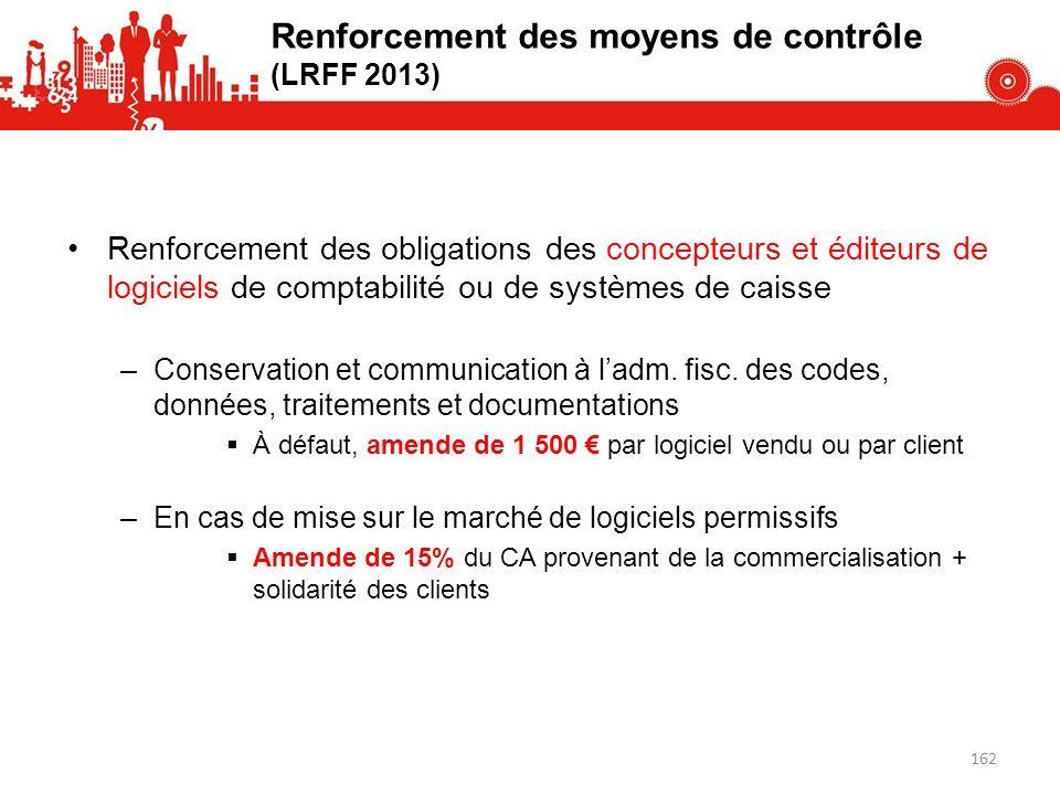 Renforcement des obligations des concepteurs et éditeurs de logiciels de comptabilité ou de systèmes de caisse –Conservation et communication à ladm.