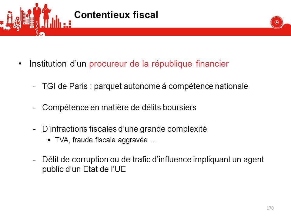 Institution dun procureur de la république financier -TGI de Paris : parquet autonome à compétence nationale -Compétence en matière de délits boursier
