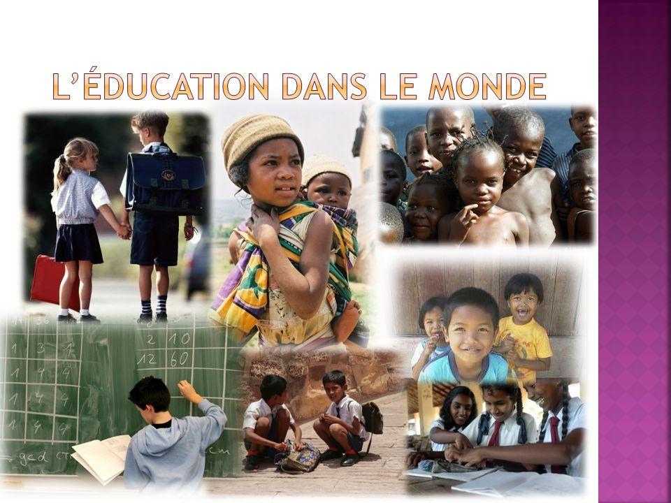 Éducation par région Sur les 8 millions denfants non scolarisés dans le monde arabe, 5 millions sont des filles.