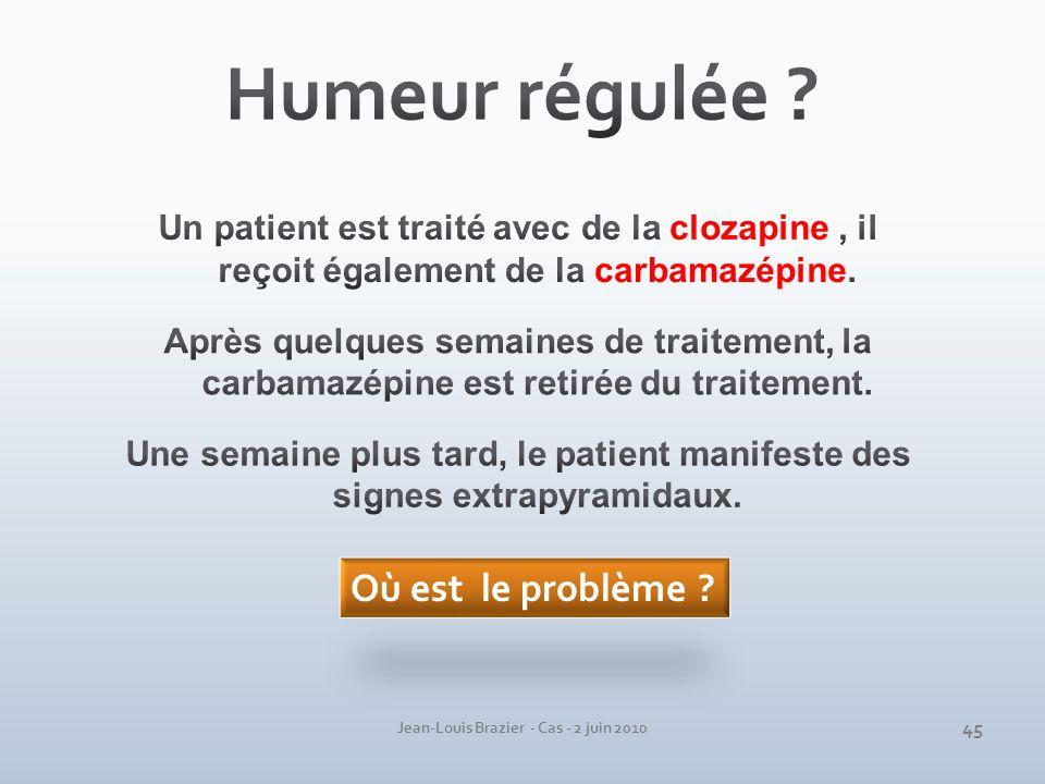 Jean-Louis Brazier - Cas - 2 juin 2010 Où est le problème ? 45