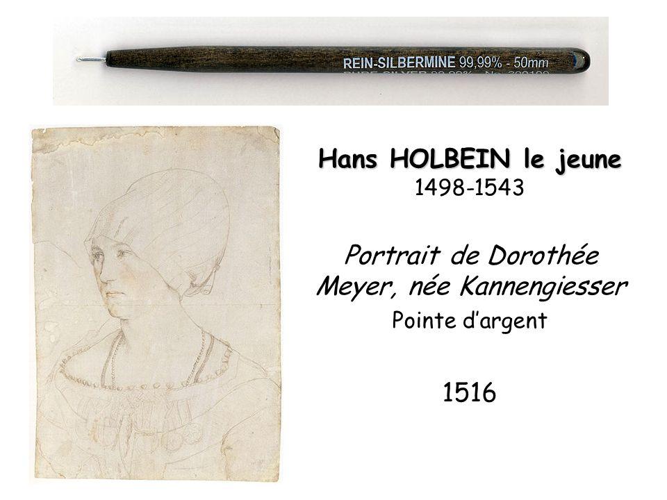 Hans HOLBEIN le jeune Hans HOLBEIN le jeune 1498-1543 Portrait de Dorothée Meyer, née Kannengiesser Pointe dargent 1516