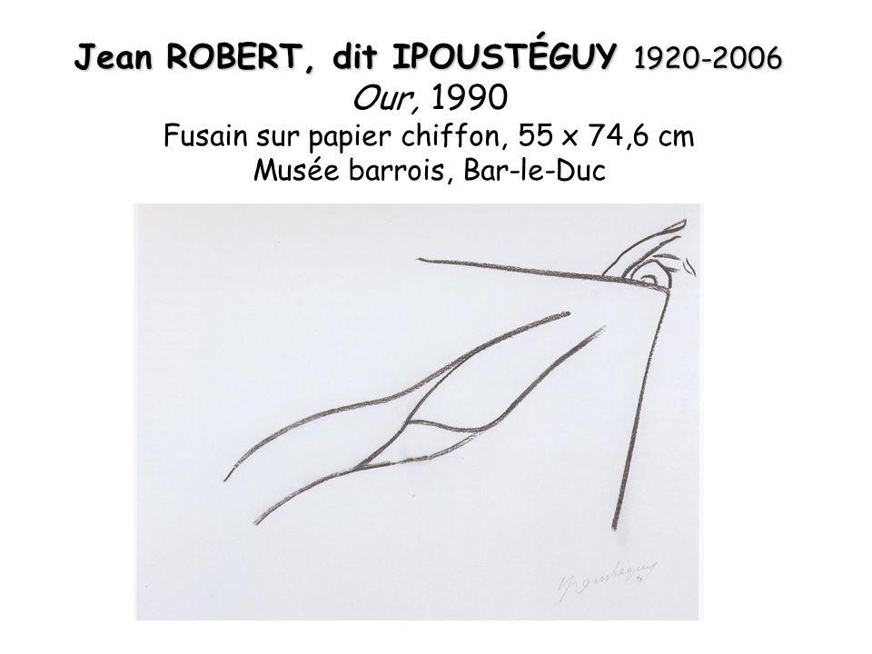 Jean ROBERT, dit IPOUSTÉGUY 1920-2006 Our, 1990 Fusain sur papier chiffon, 55 x 74,6 cm Musée barrois, Bar-le-Duc