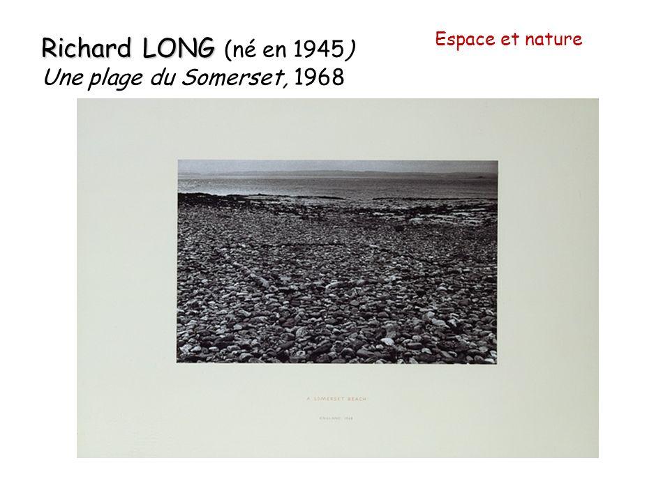 Richard LONG Richard LONG (né en 1945) Une plage du Somerset, 1968 Espace et nature