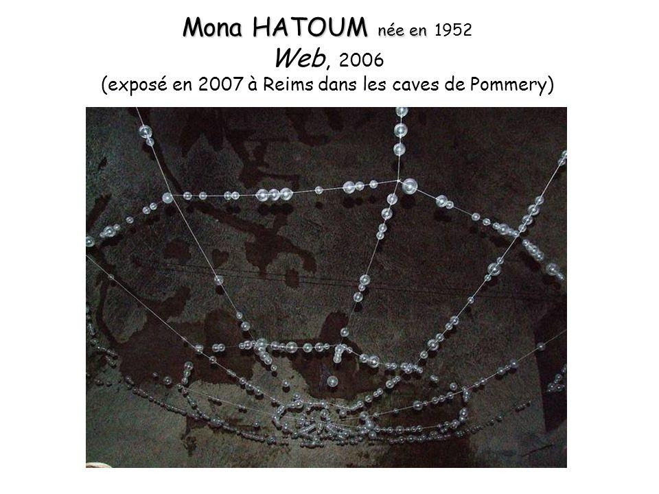Mona HATOUM née en Mona HATOUM née en 1952 Web, 2006 (exposé en 2007 à Reims dans les caves de Pommery)