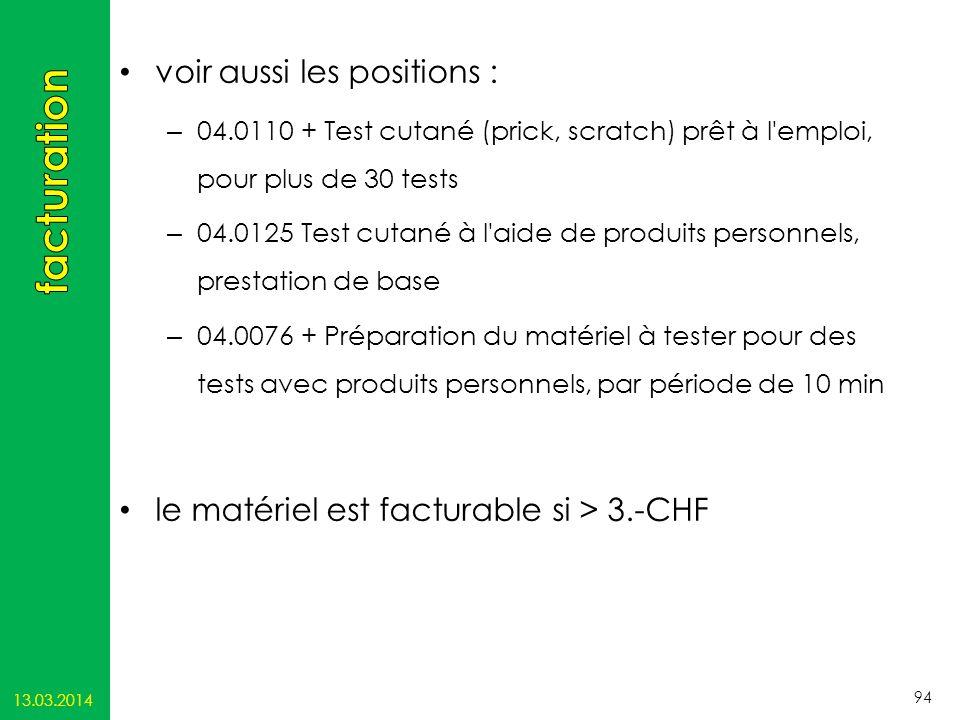 13.03.2014 94 voir aussi les positions : – 04.0110 + Test cutané (prick, scratch) prêt à l'emploi, pour plus de 30 tests – 04.0125 Test cutané à l'aid