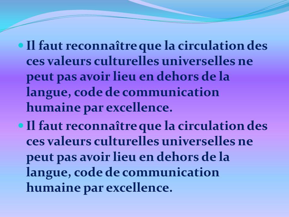 Constitution de la culture dans la société tradition / société 1 tradition / société 2 tradition /société 3 Culture