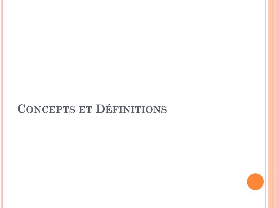 C ONCEPTS ET D ÉFINITIONS