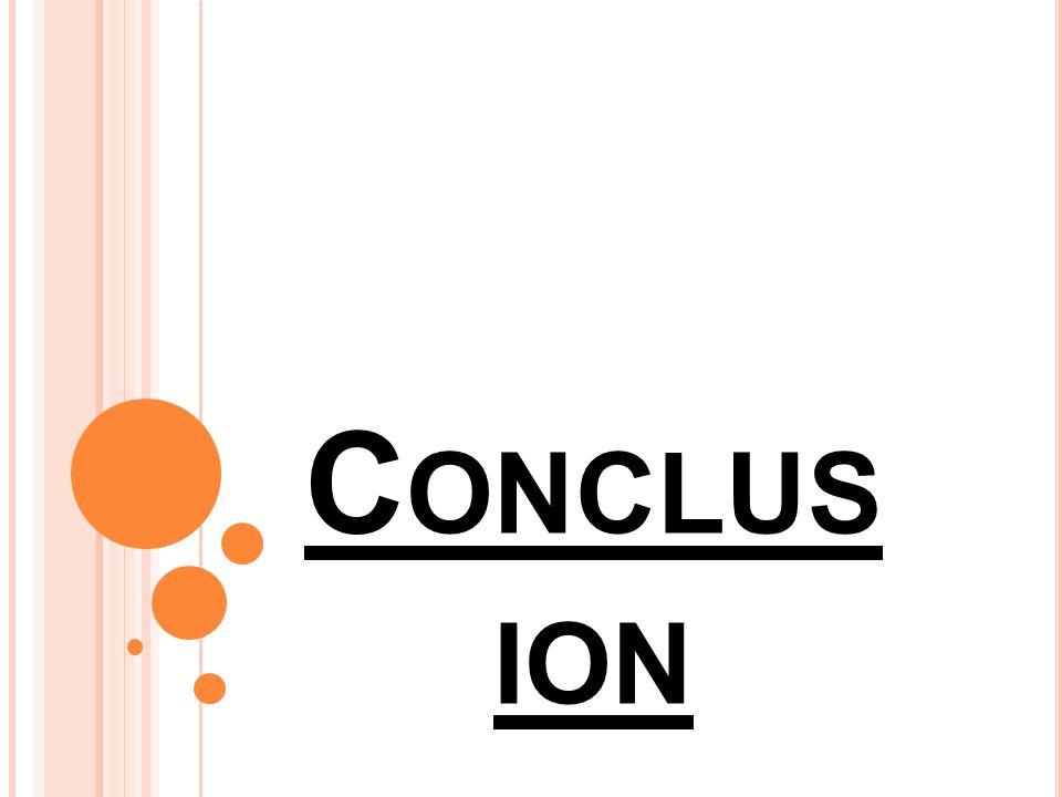C ONCLUS ION