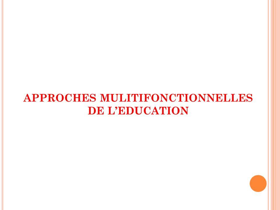 APPROCHES MULITIFONCTIONNELLES DE LEDUCATION